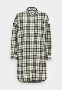 DRESS LOOSE FIT CHEST POCKET WITH DESSIN - Shirt dress - dark green