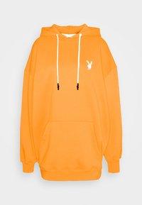 Missguided - PLAYBOY REPEAT LOGO HOODY DRESS - Vestido informal - orange - 4