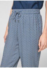 s.Oliver - BROEKEN - Trousers - blue embroidery - 4
