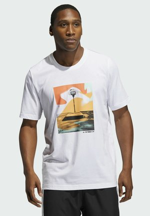 SLEPT ON GRAPHIC T-SHIRT - T-Shirt print - white