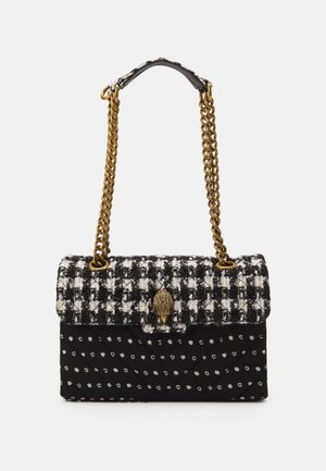 TWEED KENSINGTON BAG - Sac bandoulière - black/white