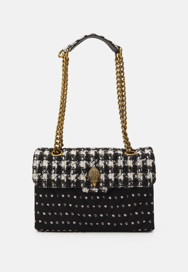 TWEED KENSINGTON BAG - Skuldertasker - black/white