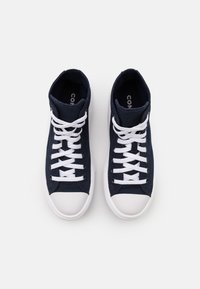 Converse - CHUCK TAYLOR ALL STAR MOVE PLATFORM GLOSSY METAL - Zapatillas altas - obsidian/pure silver/white - 5