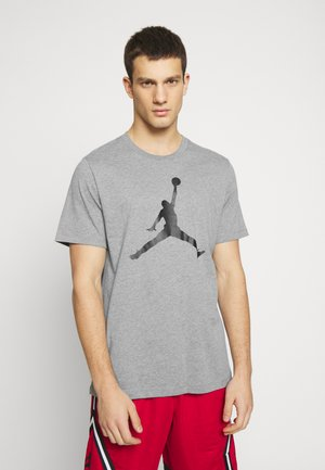 JUMPMAN CREW - T-shirt med print - carbon heather/black