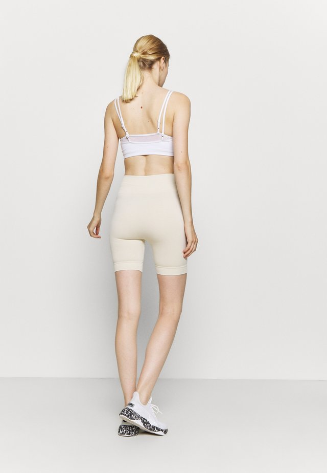 HIGH WAIST CYCLING SHORTS - Collants - beige