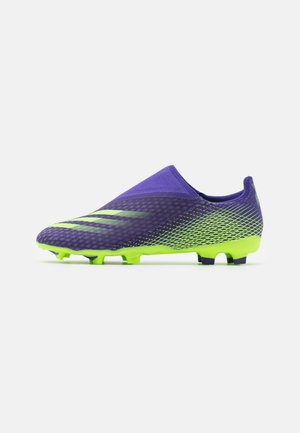 X GHOSTED.3 FOOTBALL BOOTS FIRM GROUND - Moulded stud football boots - energy ink/signal green