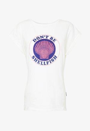 VISBY SHELLFISH - Camiseta estampada - offwhite