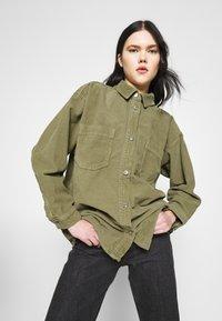 Topshop - Button-down blouse - khaki - 3