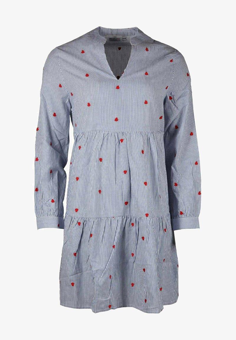Zwillingsherz - Day dress - blau/ weiß
