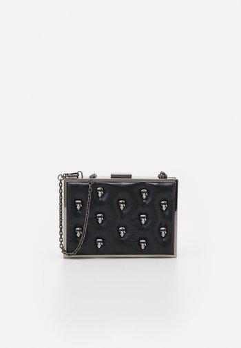 IKONIK 3D PIN MINAUDIERE - Across body bag - black