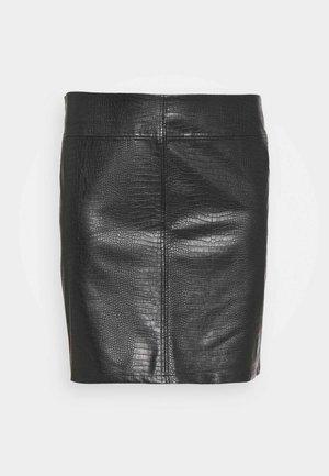 NMLISSY SHORT SKIRT - Mini skirt - black