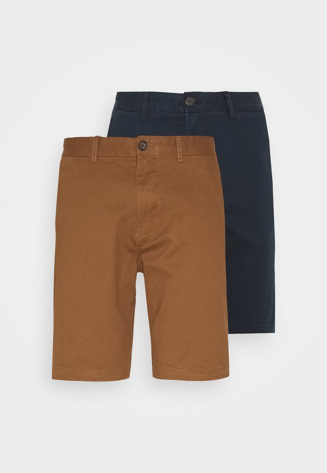 2 PACK - Kraťasy - navy/toffee