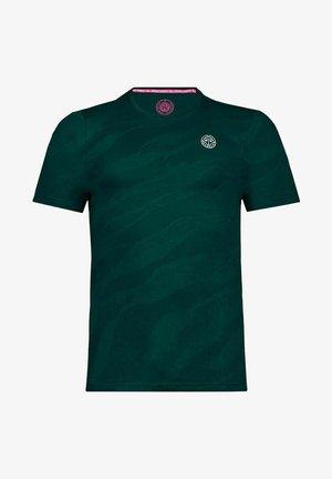 T-shirt med print - dunkelgrün