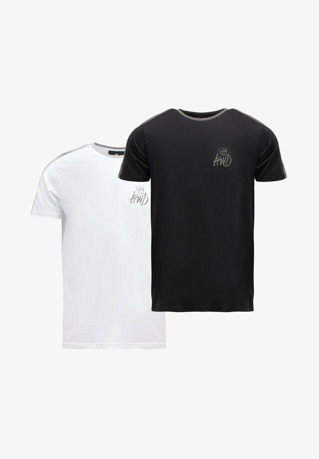 WEXFORD 2 PACK - T-shirt imprimé - white/black