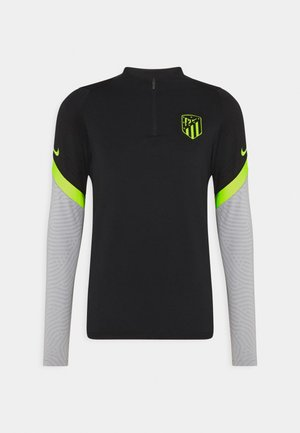 ATLETICO MADRID DRY DRILL - Club wear - black/wolf grey/volt