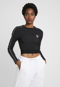 Puma - CLASSICS - Long sleeved top - black - 0