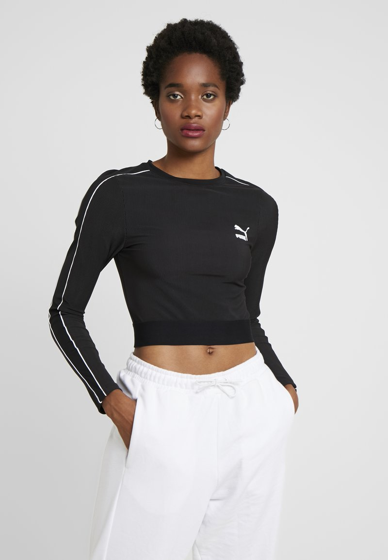Puma - CLASSICS - Long sleeved top - black
