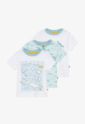 SAVE OUR SEAS  3 PACK - T-shirts med print - white