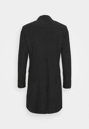 TRAVEL DOUBLE BREASTED COAT - Klasický kabát - black