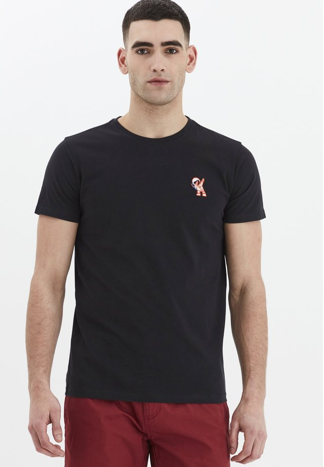 THORGE - Basic T-shirt - black