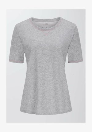LANGES SCHLAFSHIRT SERIE ZZZLEEPWEAR - Pyjama top - stone grey melange