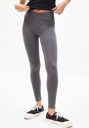 FARIBAA LOGO - Leggings - Trousers - grey melange