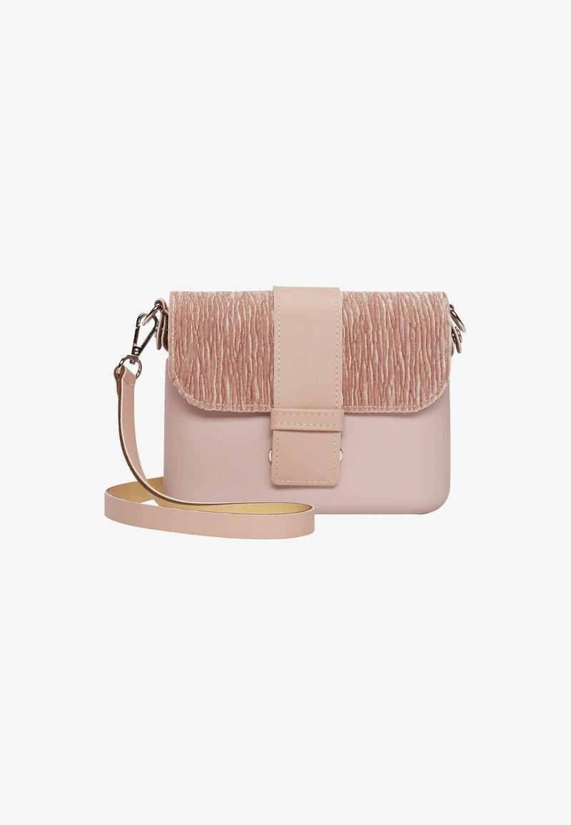 O Bag - Across body bag - rosa smoke-velluto
