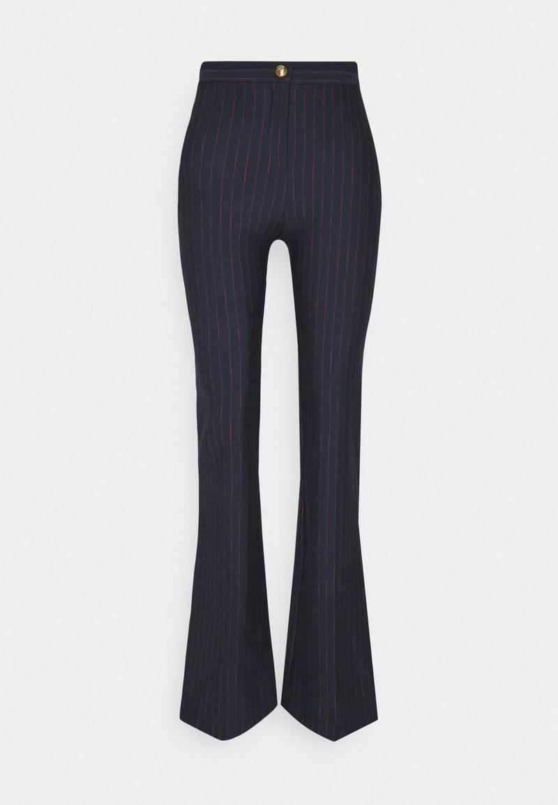 Pinko - HULKI TROUSERS - Trousers - blue rosso