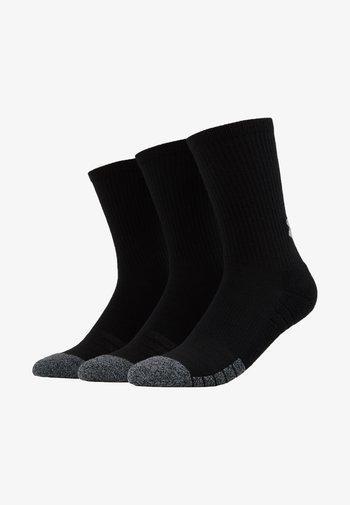 HEATGEAR CREW 3 PACK - Sports socks - black/steel