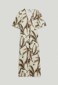 Massimo Dutti - MIT BLÄTTERPRINT  - Day dress - white - 6