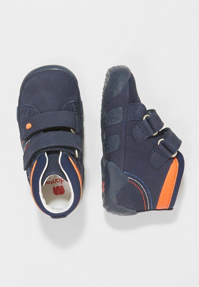 RINO - Baby shoes - navy/orange