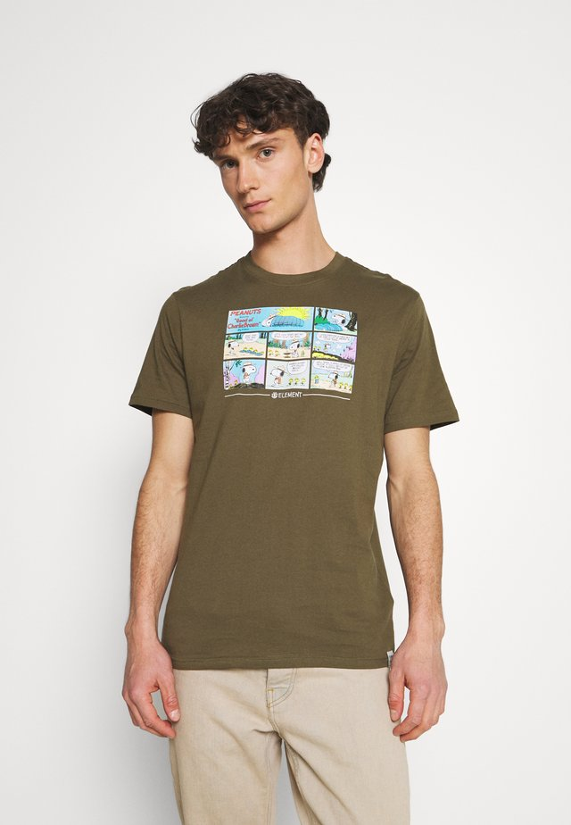 PEANUTS CAMPER - T-shirts print - army