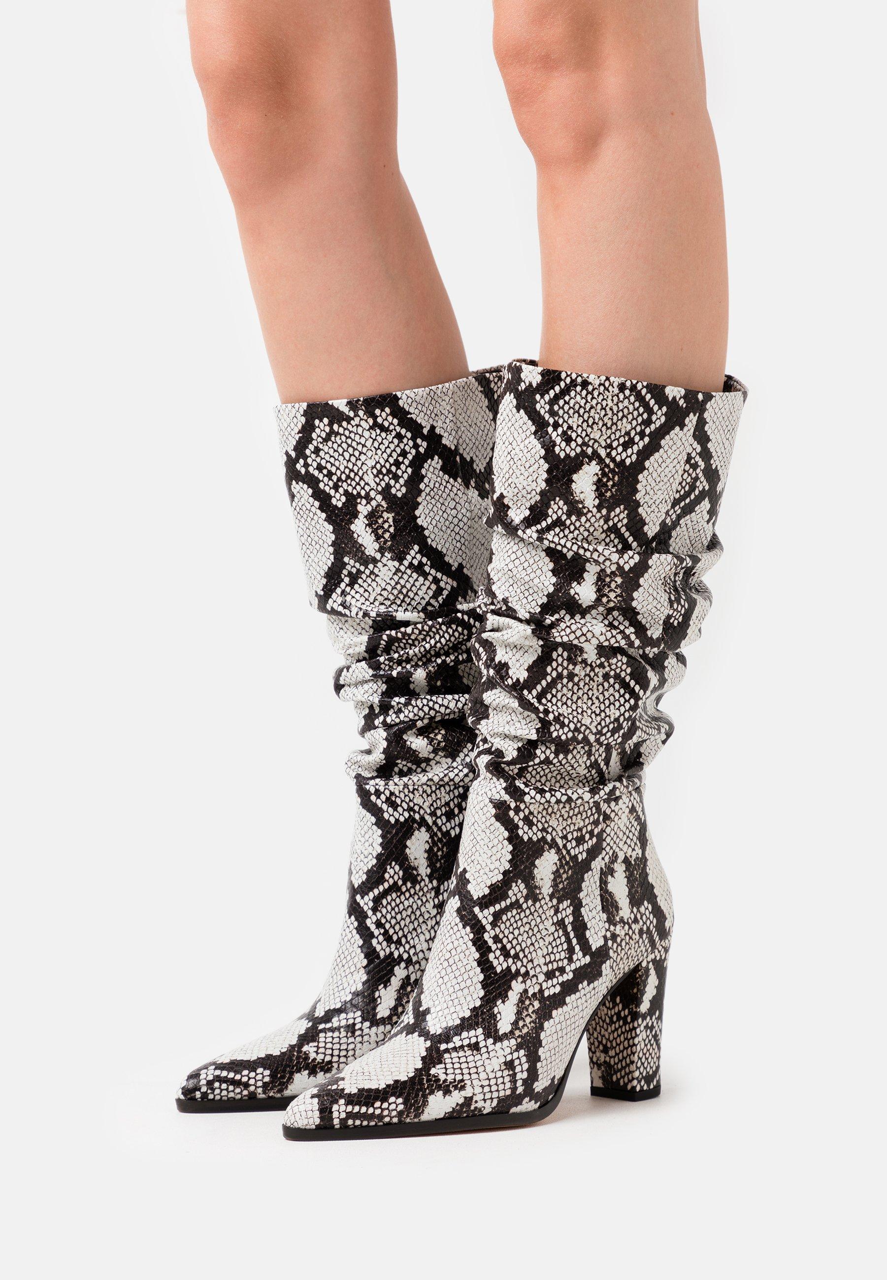 Iro NAGY - Bottes à talons hauts - black/white - Chaussures à talons femme Original
