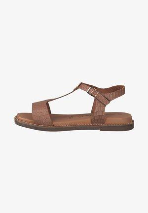 Sandals - nut croco