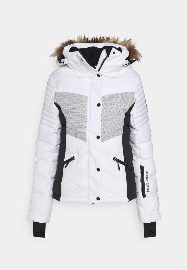 SNOW LUXE PUFFER - Ski jacket - white