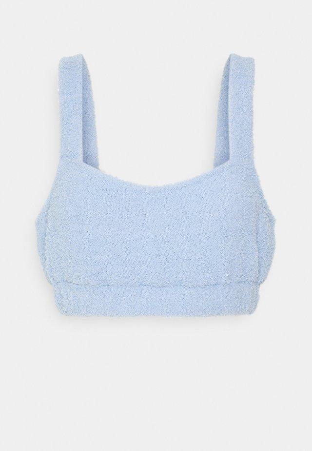 FUZZY CROP - Maglia del pigiama - blue