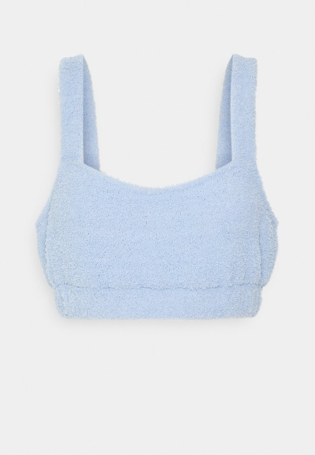 FUZZY CROP - Koszulka do spania - blue