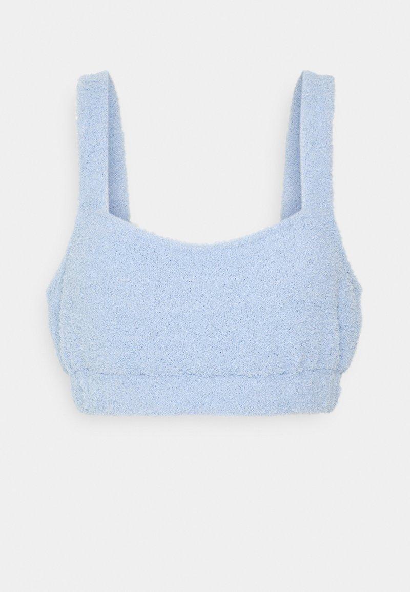 Loungeable - FUZZY CROP - Pyjamasoverdel - blue