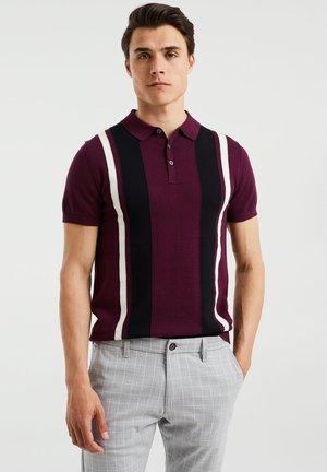 Polo shirt - burgundy red