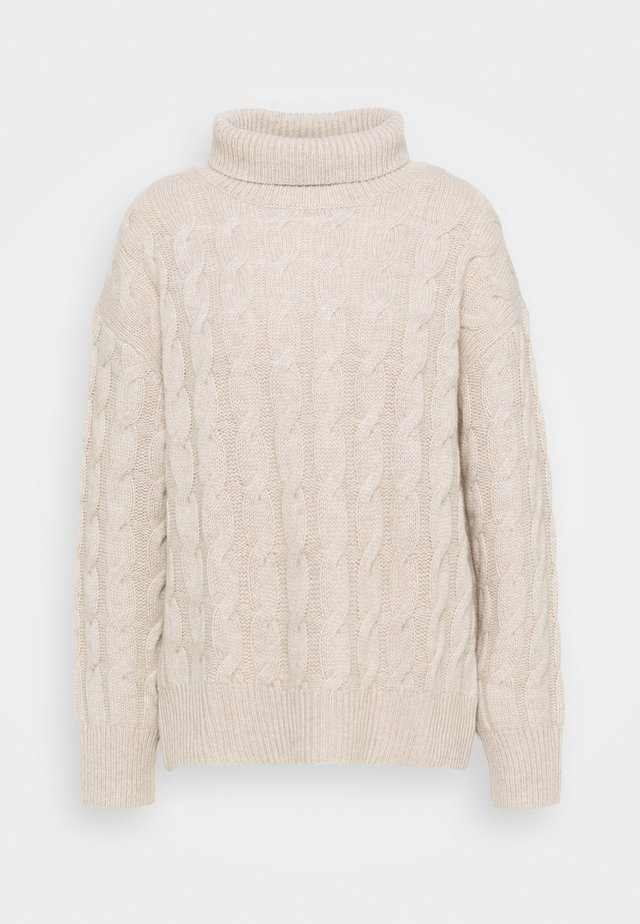 HIGHNECK - Strickpullover - natural