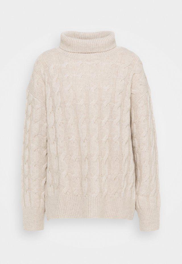 HIGHNECK - Sweter - natural