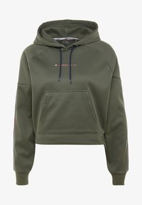 Tommy Hilfiger - HOODY CROPPED WITH TAPE - Huppari - green - 4