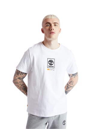 SS LOGO PLAY - T-shirt z nadrukiem - white