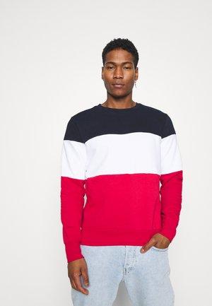 WHITEHALL - Sweatshirt - rich navy / optic white / red
