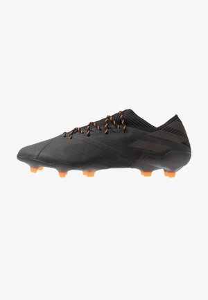 NEMEZIZ 19.1 FG - Moulded stud football boots - core black/signal orange