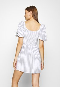 Abercrombie & Fitch - SMOCKED MINI - Day dress - white/blue - 2