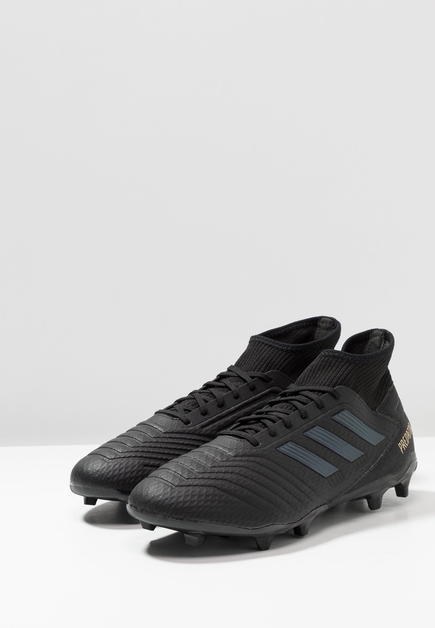 adidas Performance PREDATOR 19.3 FG - Fotballsko - core black/gold metallic