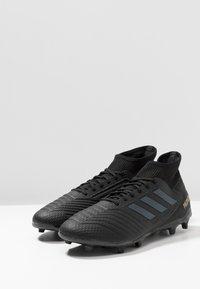 adidas Performance - PREDATOR 19.3 FG - Moulded stud football boots - core black/gold metallic - 2