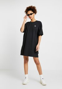 adidas Originals - TREFOIL DRESS - Jerseyjurk - black - 1