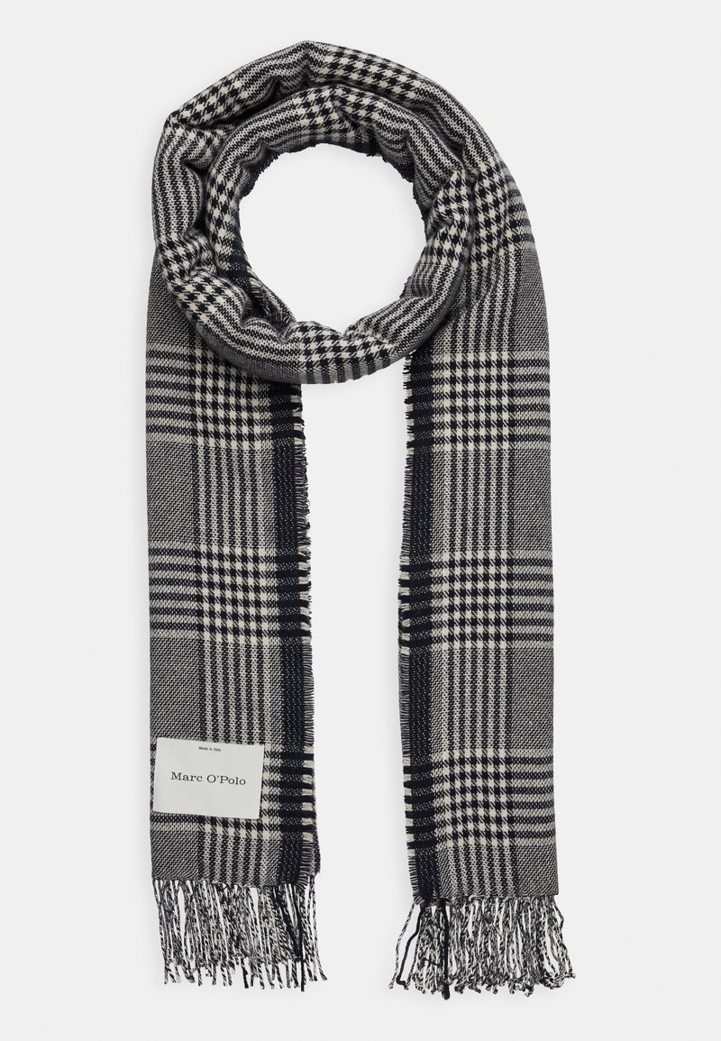 Marc O'Polo - SCARF WOVEN STRUCTURED HOUNDSTOOT - Scarf - dark blue